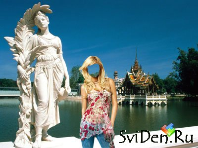 Template for a photoshop - the Blonde in Thailand