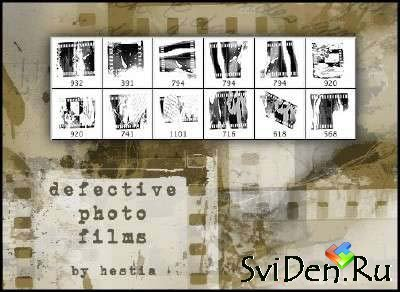 Defective Photo Films - Photoshop Brushes