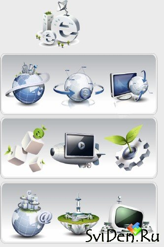 "Vector Icons ""Internet, Email"""