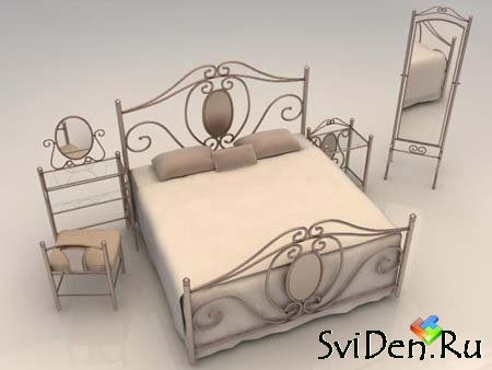 Modern Bedroom Furniture - 3D Max  Model