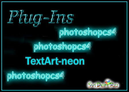 Plugin for Photoshop - TextArt-neon.