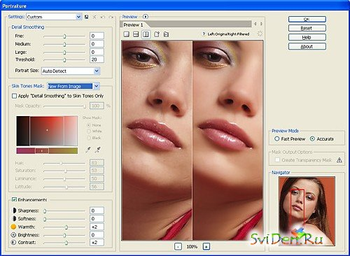 Imagenomic Portraiture for Adobe Photoshop Lightroom v2.2 Build 2207 + Manual
