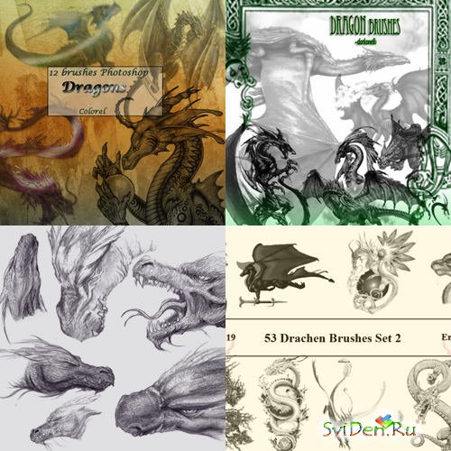 Dragon Brushes  for Photoshop