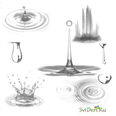 Brushes for Photoshop - Water Symfony
