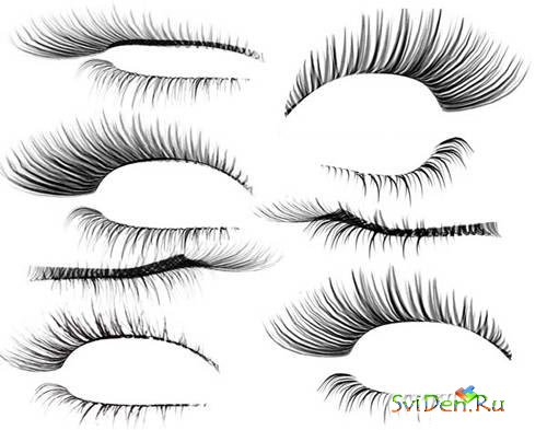 Eyelashes in PSD a format
