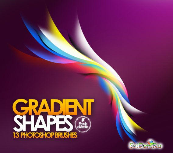 Gradient Shape Photoshop Brushes