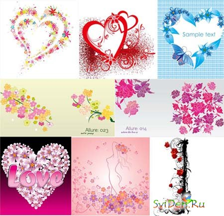 Flower Vectors of Love
