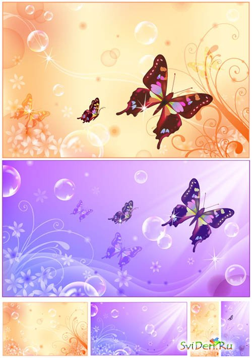 Vector - Butterfly banners