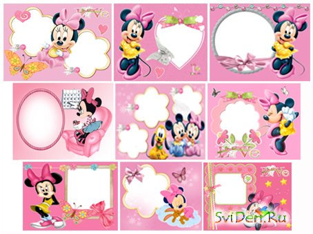 Photo Frames -  Minnie and Mikki (mega pack)