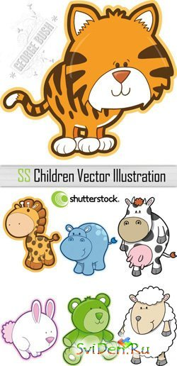 Children's PSD Clipart  for a Photoshop