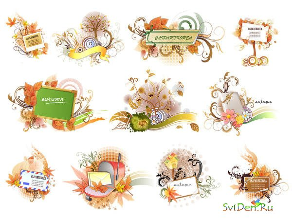 Vector Clipart - Autumn Signboards