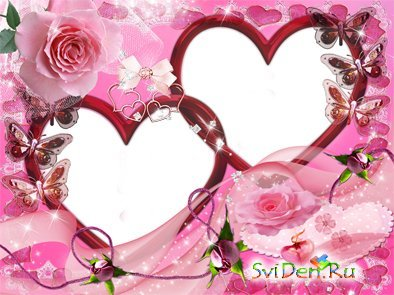 Photoframe for Photoshop - Hearts of Love