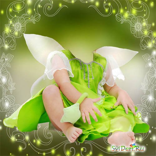 Children's template for a photomontage - the Small Fairy