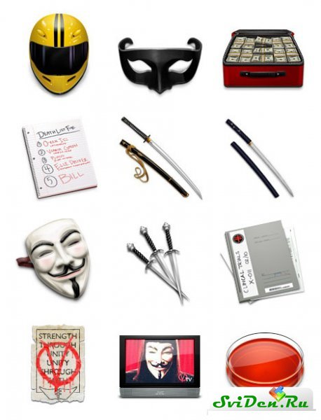 Иконки - Kill Bill & V for Vendetta icons