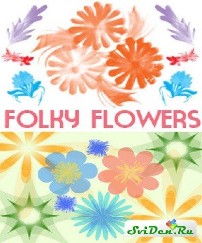 цветочные кисти для фотошопа: