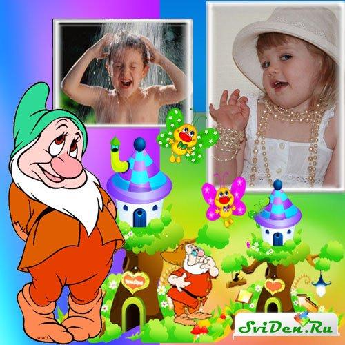 Детский фотоальбом забавные гномы