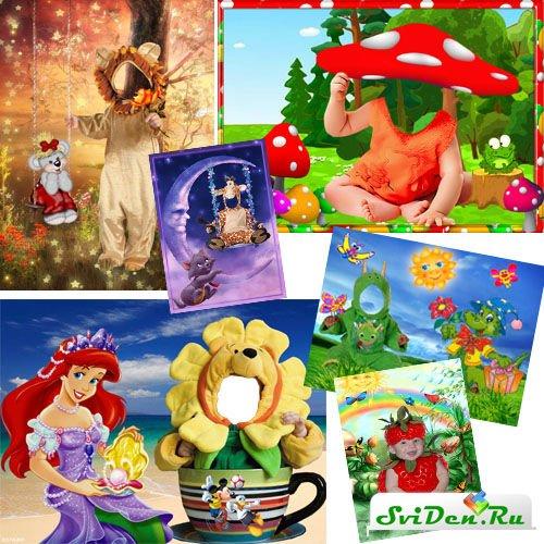 Красивые детские костюмы для фотошопа