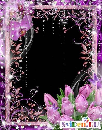 Рамка photoshop восхитительный лиловый