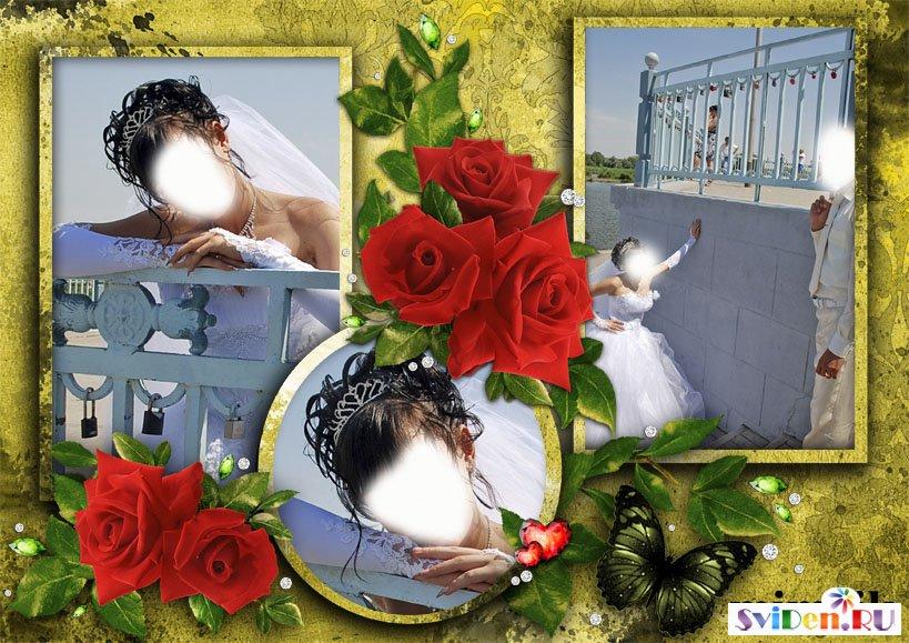 Свадебная рамка ангелочек