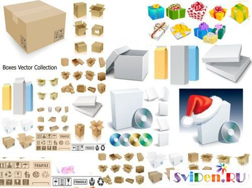 Boxes Vector Collection