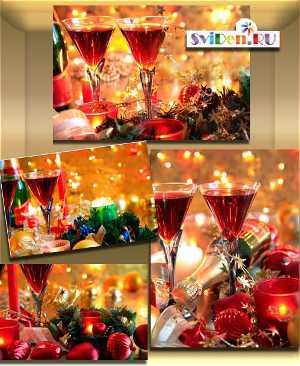 Клипарт stock photo новогодний стол