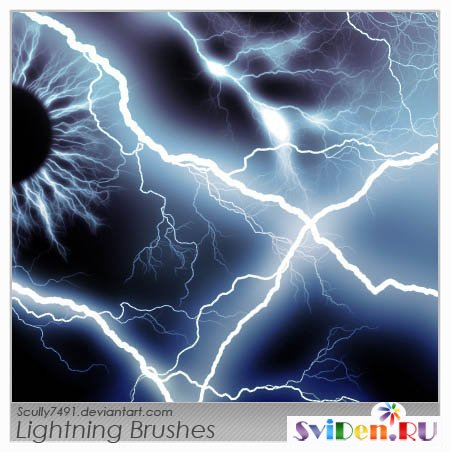 Brushes of a lightning for Photoshop