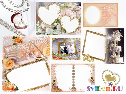 Photoframes - Wedding in Gold