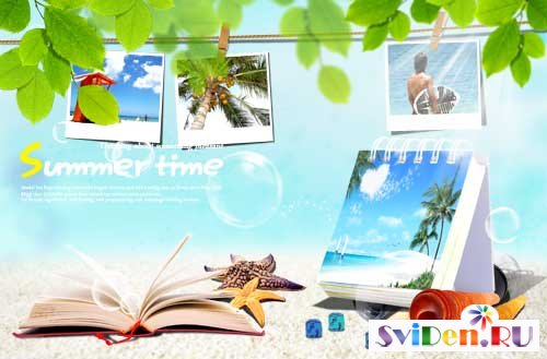Summer motivation PSD template