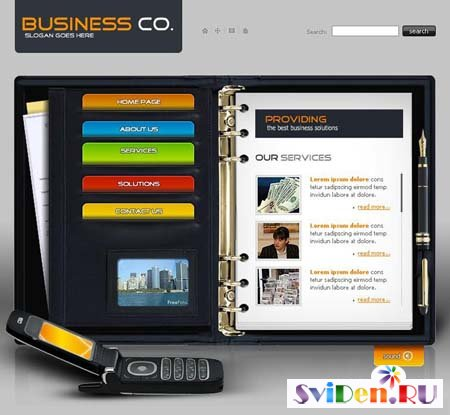 "Flash Template for Website - ""Business co."""