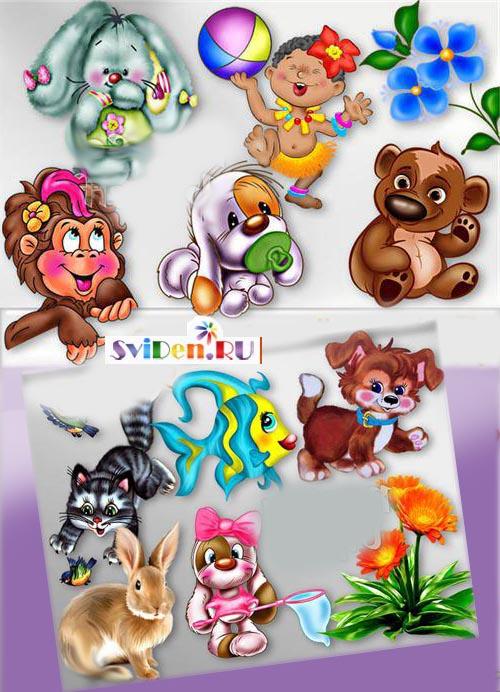 Симпатичные нарисованные персонажики